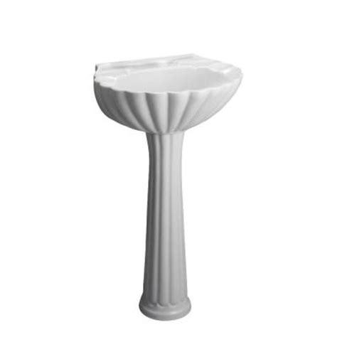 pegasus bali 19 in pedestal combo bathroom sink for 4 in
