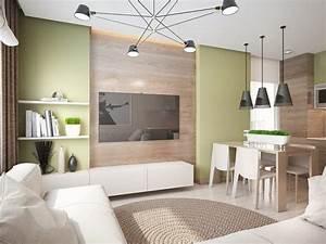 Weiße Möbel Wohnzimmer : wohntrends 2016 wohnzimmer holzwand hellgruene wandfarbe weisse moebel schwarze lampen deco ~ Orissabook.com Haus und Dekorationen