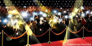 Red Carpet Background With Paparazzi
