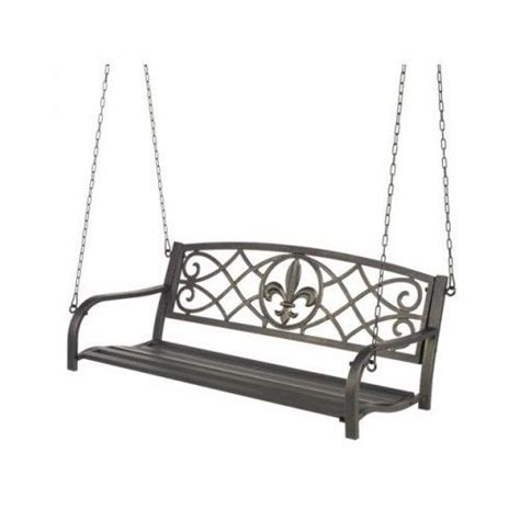 metal porch swing outdoor patio hanging furniture 2 person