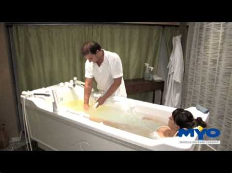 Tub Therapy by Hydrotherapy Tub Treatment Routine Myorelease Therapy