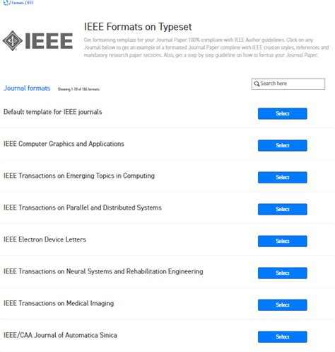 find  word template  ieee journals