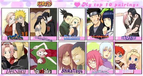 My Top Ten Naruto Couples By Dbzgirl118 On Deviantart