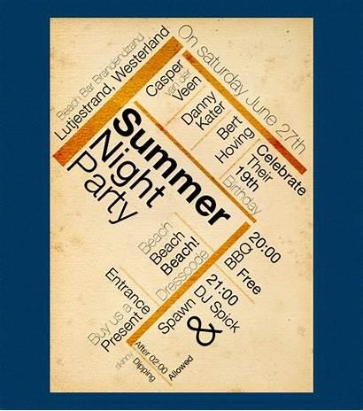 Postcard Creative Examples Summer Invitation Self Designs