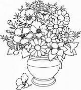 Coloring Pages Bouquets Bouquet Flower sketch template