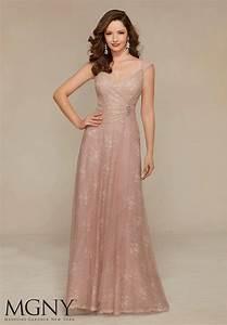 Mori Lee 71318 Basque Waist Dress | MadameBridal.com