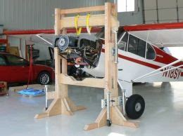 gantry crane homemade gantry crane intended  aircraft engines constructed  wood