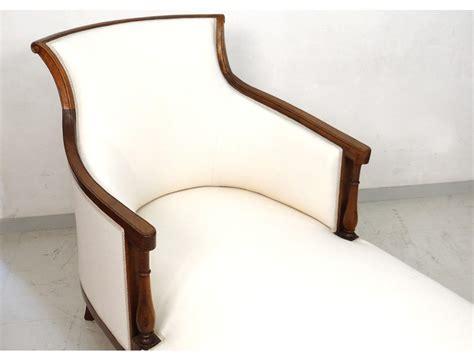chaise directoire superbe duchesse en bateau chaise longue merisier