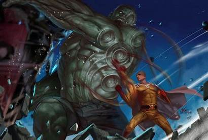Hulk Saitama Lee Punch Artstation Heroes Anime