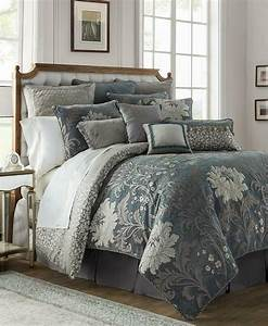 Waterford, Ansonia, Reversible, Pewter, King, Comforter, Set
