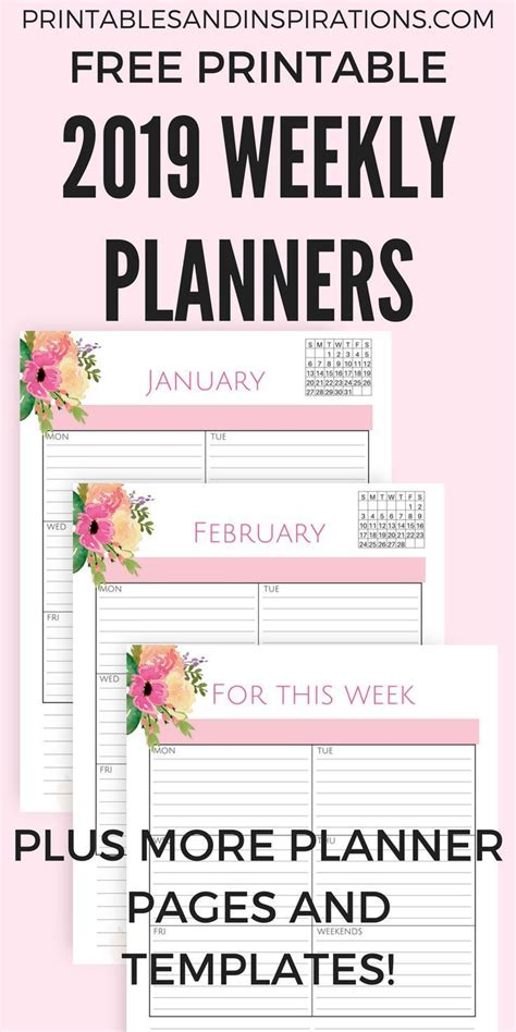 pink  life planner calendar  printable