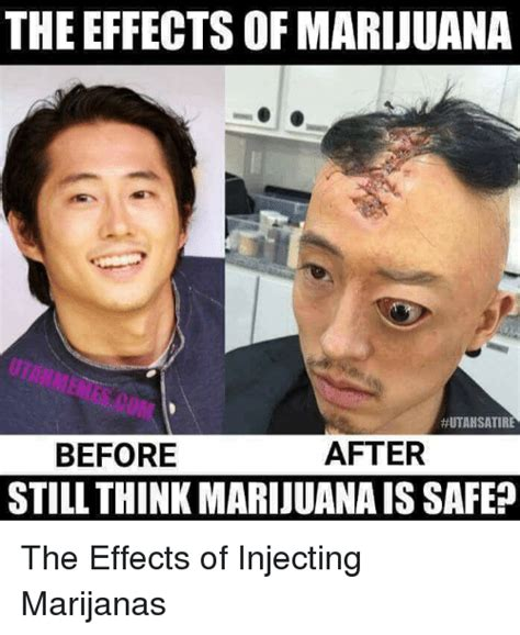 Injecting Marijuanas Meme - the effects of marijuana utah satire after before still think marijuanais safe marijuana