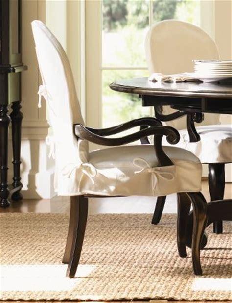 Long Cove Summerville Arm Chair W White Slipcover & Black
