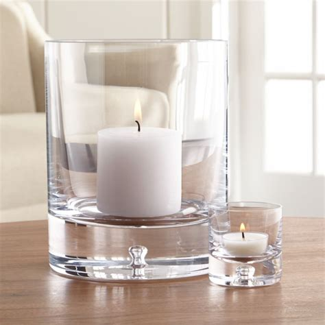 Direction Glass Candle Holders   Crate and Barrel