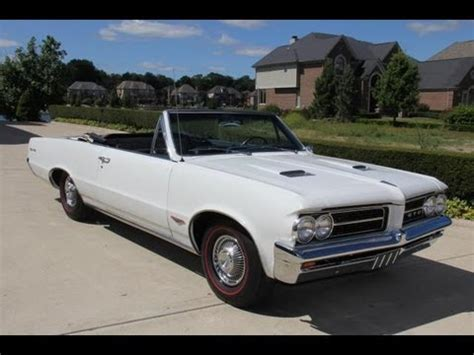 1964 pontiac gto convertible tri power classic muscle car for sale in mi vanguard motor sales