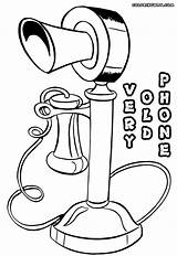 Phone Coloring Retro sketch template