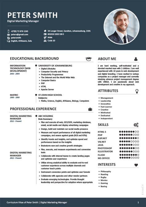Professional Cv by Professional And Beautiful Cv Design Elite Cv