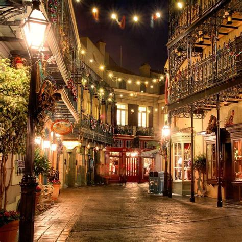 i love new orleans square at night disneyland60