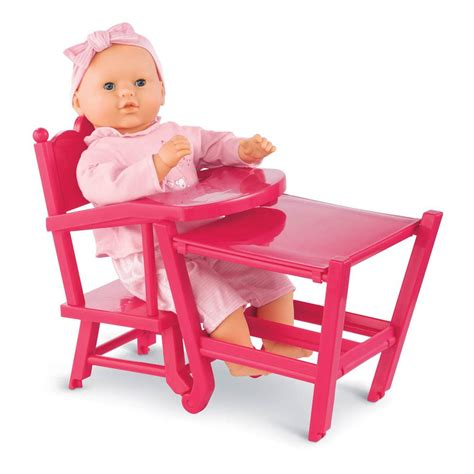 jouet chaise haute cerise doll high chair pink corolle toys and hobbies