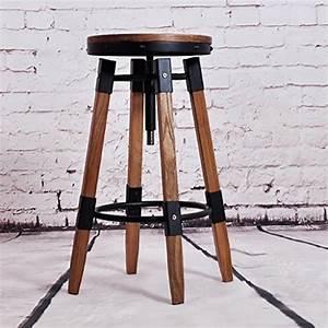 Tabouret De Bar Fer : chaise de bar fer forge et bois ~ Dallasstarsshop.com Idées de Décoration