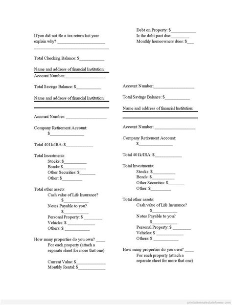 16890 printable statement form 1001 best images about real estate forms to print on