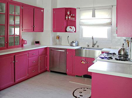 Home Dzine Kitchen  Hot Pink Kitchen Makeover
