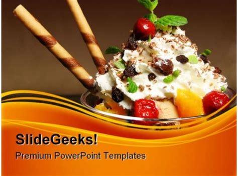 ice cream food powerpoint templates  powerpoint
