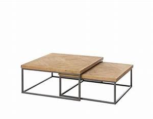 Table Basse Gigogne : table basse double gigogne ixia m tal et bois bois ~ Zukunftsfamilie.com Idées de Décoration