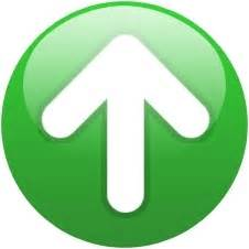 Green globe up arrow Free icon in format for free download ...