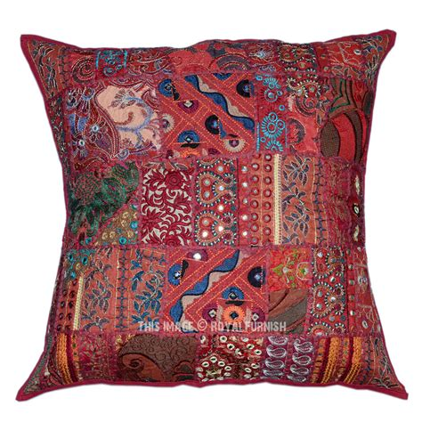 bohemian throw pillows 60 quot x60 quot tribal patchwork embroidered bohemian throw