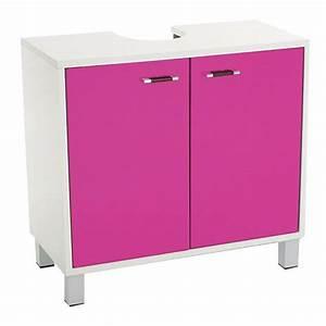 Meuble Dessous De Lavabo : meuble dessous lavabo dinamo rose meuble de salle de bain eminza ~ Melissatoandfro.com Idées de Décoration