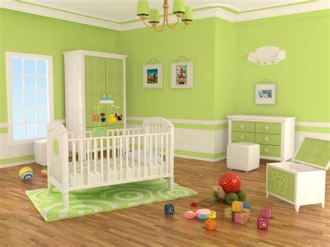 idees peinture chambre chambre bébé fille en nuances de vert inspirantes