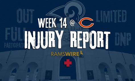 rams  bears injury report marcus peters ankle  full