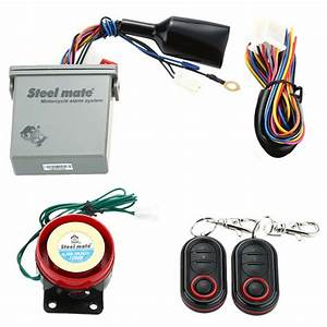Steelmate Motorcycle Alarm System Remote Engine Start With