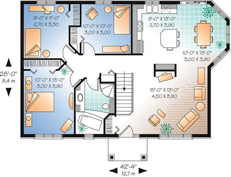 ranch contemporary home   bedrooms  sq ft house plan   tpc