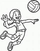 Coloring Sports Playing Volleyball Pages Player Clipart Clip Drawing Printable Sport Aang Cliparts Fun Rugby Wecoloringpage Library Categories Getdrawings 2229 sketch template