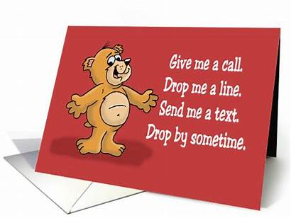 Card Give Cartoon Call Miss Cards Saying