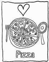 Pizza Coloring Pages Printable Sheet Delicious Getcolorings Popular sketch template