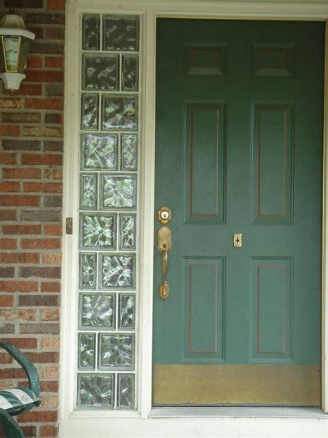 entry door sidlight windows  glass blocks cleveland