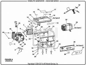 Homelite Hgca1400 1400 Watt Generator Parts Diagram For