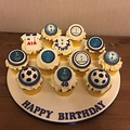 Tottenham Hotspur cupcake board | Soccer cake, Novelty ...