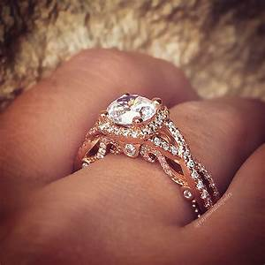 Verragio engagement rings 45ctw diamond setting for Halo engagement rings with wedding bands