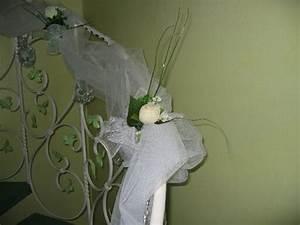 decoration rampe escalier mariage