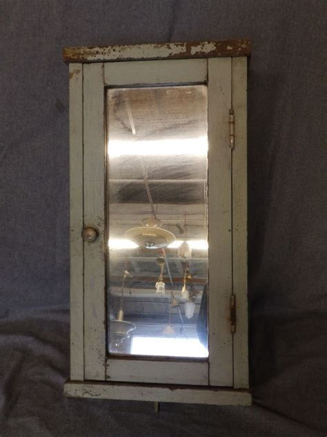 Vintage Narrow Surface Wall Mount Medicine Cabinet Shabby
