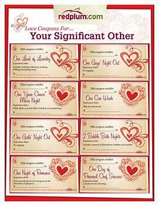 romantic love coupon template printable love coupons for With love coupons for him template