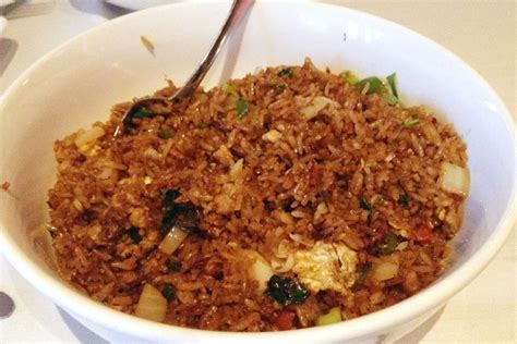 cuisine restaurants photo basil fried rice with ground pork from all seasons