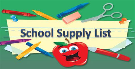school supply lists crews lake middle school