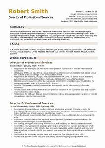 Director Of Professional Services Resume Samples