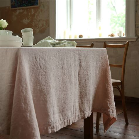Leinen Tischdecke by Washed Rosa Linen Tablecloth By Linenme