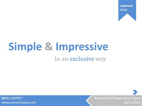 simple impressive powerpoint template
